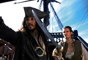 Liberté, aventure: Johnny Depp, Orlando Bloom